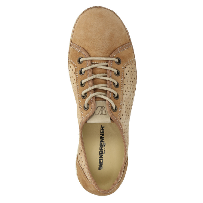 Leder-Sneakers weinbrenner, Braun, 546-4238 - 19