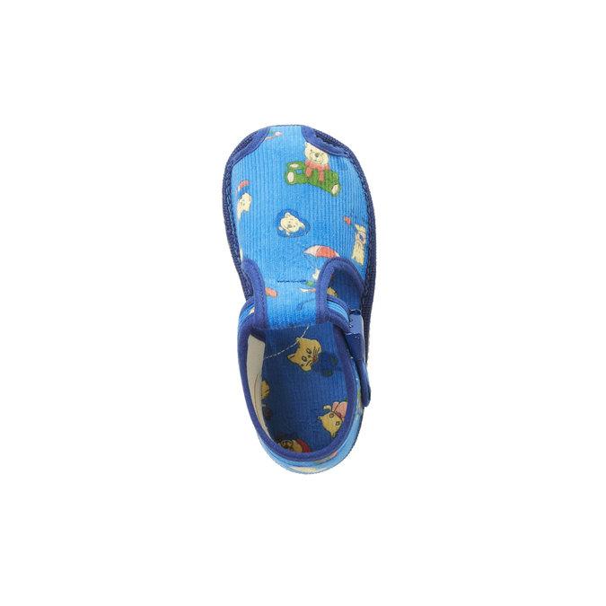 Knöchelhohe Kinder-Hausschuhe bata, Blau, 179-9210 - 19