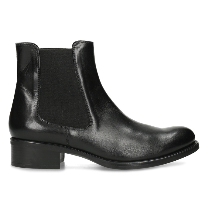 Damen-Chelsea-Boots aus Leder bata, Schwarz, 594-6448 - 19