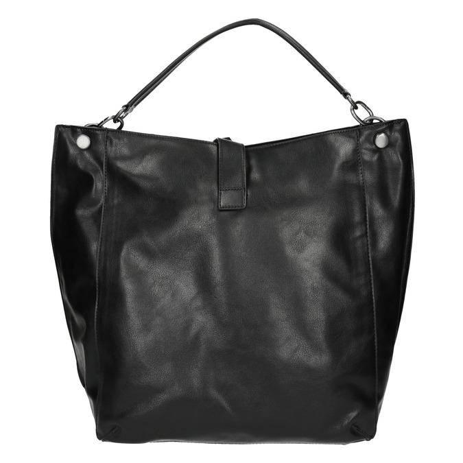 Schwarze Handtasche im Hobo-Stil bata, Schwarz, 961-6808 - 26
