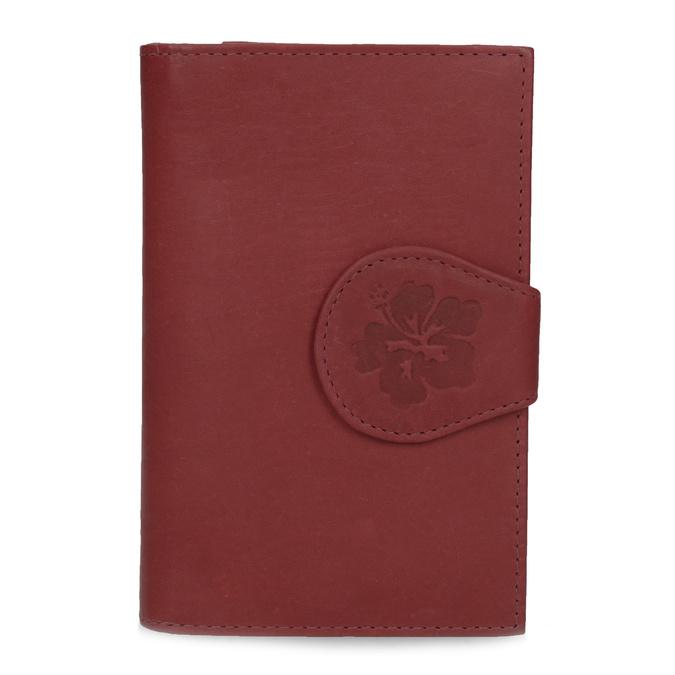 Damen-Geldbörse aus Leder bata, Rot, 944-5155 - 26