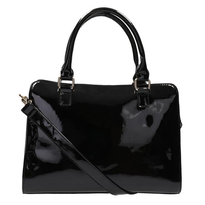 Schwarze Handtasche mit goldenen Details bata, Schwarz, 961-6610 - 26