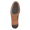Braune Lederhalbschuhe bata, Braun, 824-4684 - 26