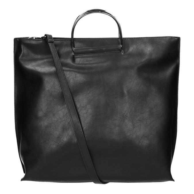 Damenhandtasche mit Metallhenkeln, Schwarz, 961-6789 - 19