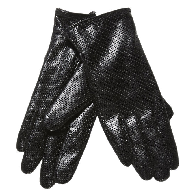 Damen-Lederhandschuhe mit Perforation bata, Schwarz, 904-6114 - 13