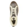 Knöchelhohe Leder-Sneakers mit Kunstpelz weinbrenner, Grau, 596-2627 - 19