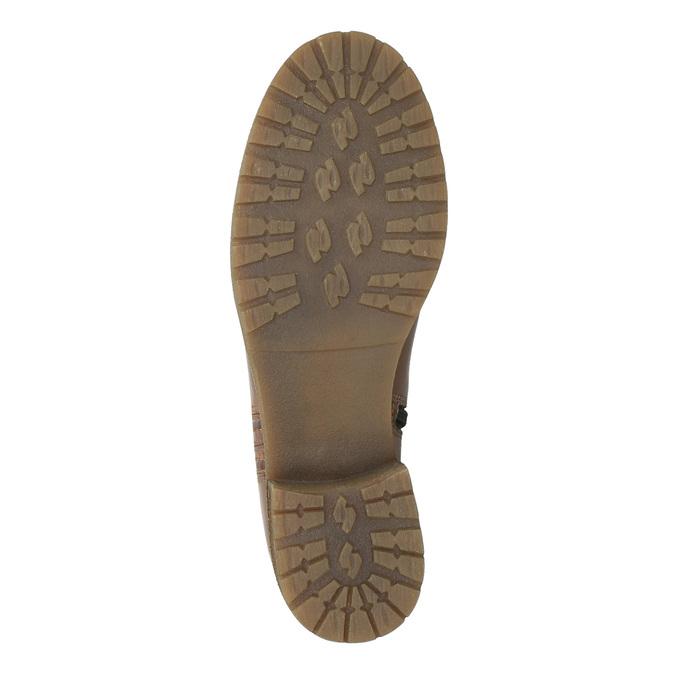 Braune Lederstiefel bata, Braun, 594-4613 - 26