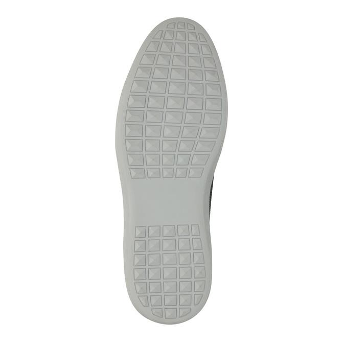 Knöchelhohe Herren-Sneakers aus Leder bata, Blau, 844-9631 - 26