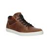 Knöchelhohe Sneakers aus Leder bata, Braun, 844-3631 - 13
