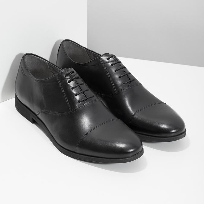Schwarze Lederhalbschuhe im Oxford-Stil vagabond, Schwarz, 824-6048 - 26