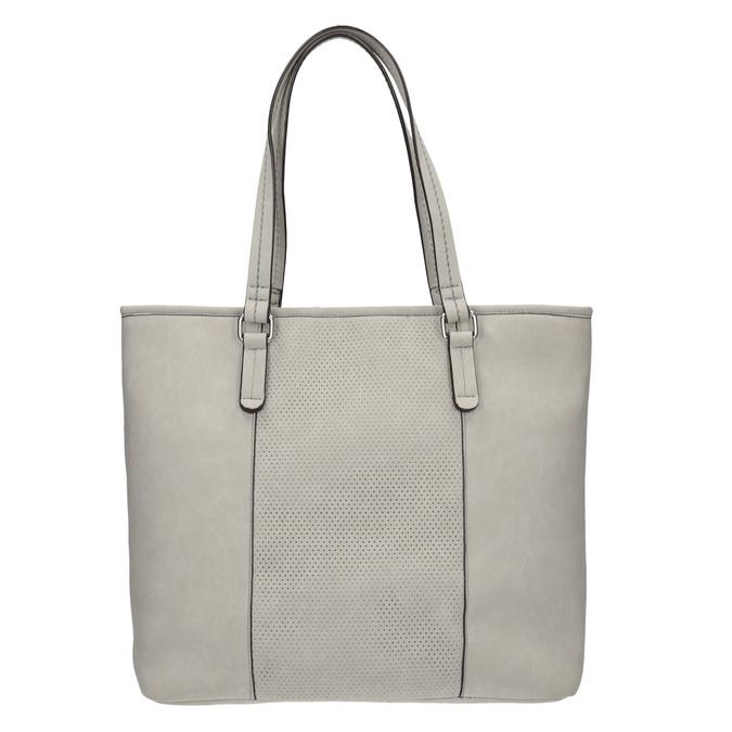 Damenhandtasche mit perforiertem Detail bata, Grau, 961-2711 - 26