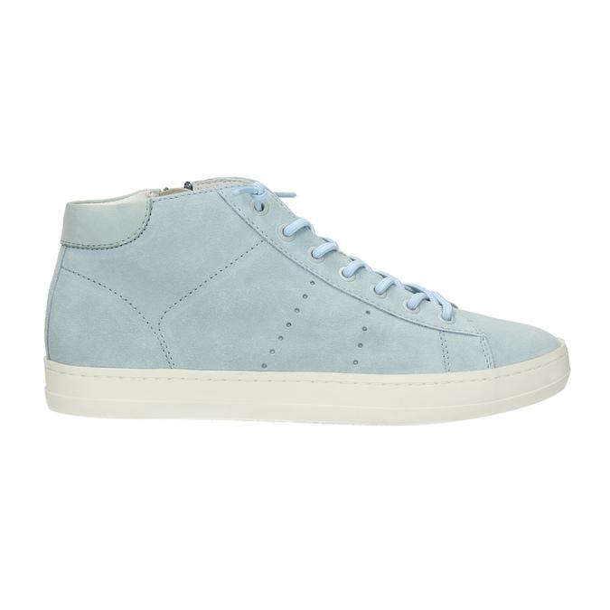 Knöchelhohe Damen-Sneakers aus Leder bata, Blau, 523-9602 - 15