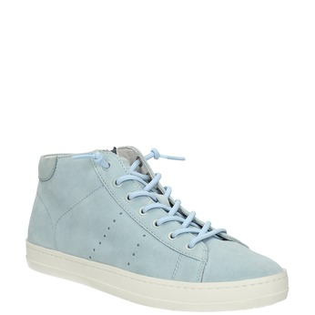 Knöchelhohe Damen-Sneakers aus Leder bata, Blau, 523-9602 - 13