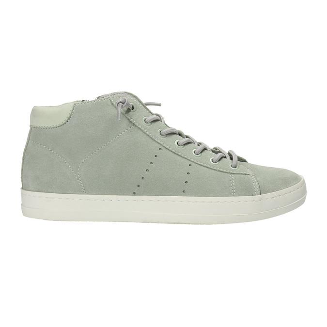 Knöchelhohe Damen-Sneakers aus Leder bata, Grűn, 523-7602 - 15