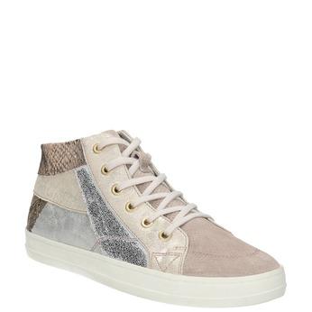 Damen Leder-Sneakers bata, Rosa, 526-5614 - 13