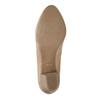Lederpumps mit niedrigen Absätzen pillow-padding, Beige, 626-8637 - 26