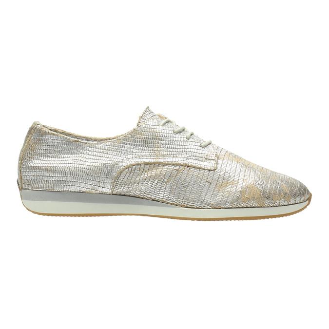 Goldene Sneakers aus Leder bata, Silber , 526-8633 - 15