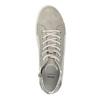 Knöchelhohe Leder-Sneakers mit Muster bata, Grau, 526-2614 - 19