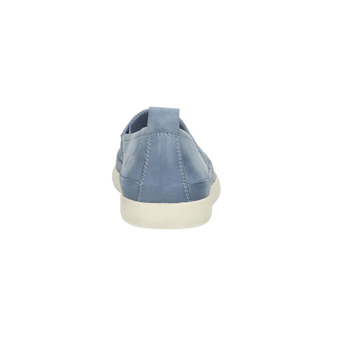Damen-Lederschuhe mit Perforation bata, Blau, 516-9601 - 17