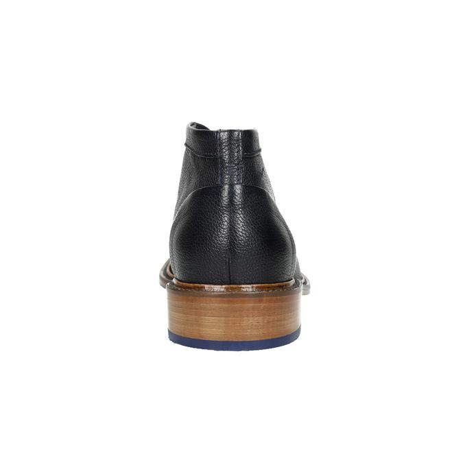 Knöchelschuhe ganz aus Leder bata, Blau, 826-9909 - 17
