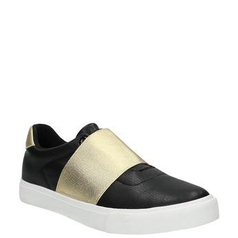 Schwarze Sneakers mit goldenem Streifen north-star, Schwarz, 511-6602 - 13