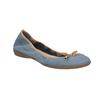 Blaue Leder-Ballerinas mit elastischem Rand bata, Blau, 526-9617 - 13