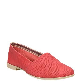 Rote Slip-Ons aus Leder bata, Rot, 516-5602 - 13