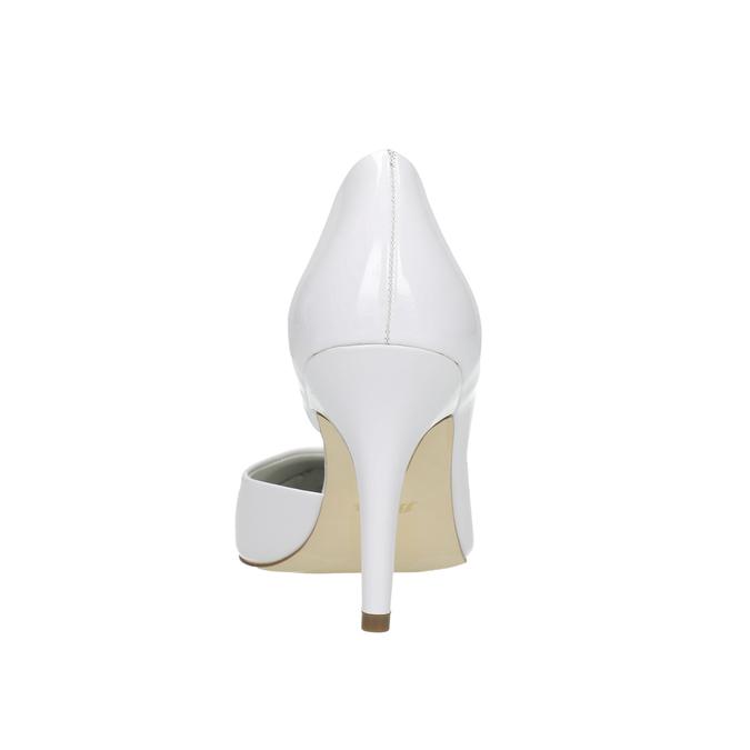 Weiße, spitz zulaufende Lederpumps insolia, Weiss, 728-1635 - 17