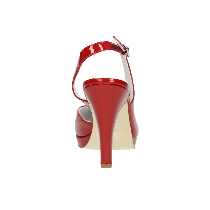 Rote Lederpumps mit freier Ferse insolia, Rot, 728-5638 - 17