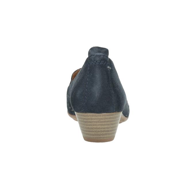 Damen-Leder-Mokassins der Weite H bata, Blau, 523-9603 - 17