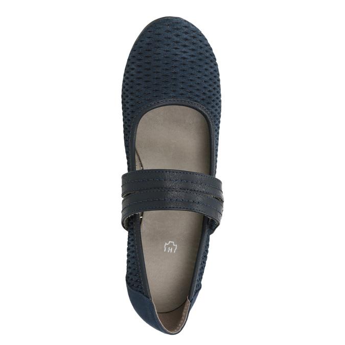 Blaue Lederpumps der Weite H bata, Blau, 623-9600 - 15