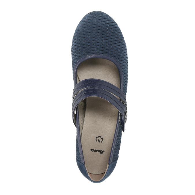 Blaue Lederpumps der Weite H bata, Blau, 623-9600 - 19