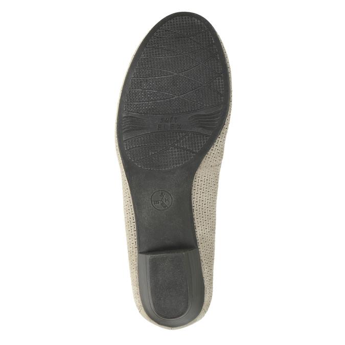 Lederpumps der Weite H bata, Grau, 623-2601 - 26