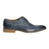 Blaue Lederhalbschuhe bata, Blau, 826-9801 - 15