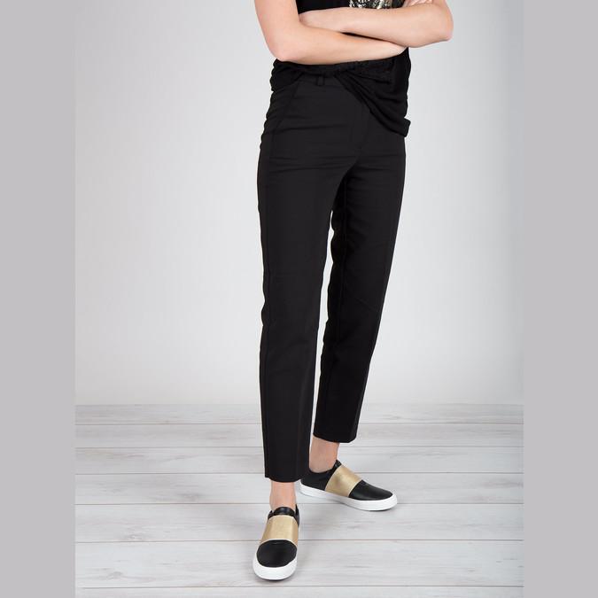 Schwarze Sneakers mit goldenem Streifen north-star, Schwarz, 511-6602 - 18