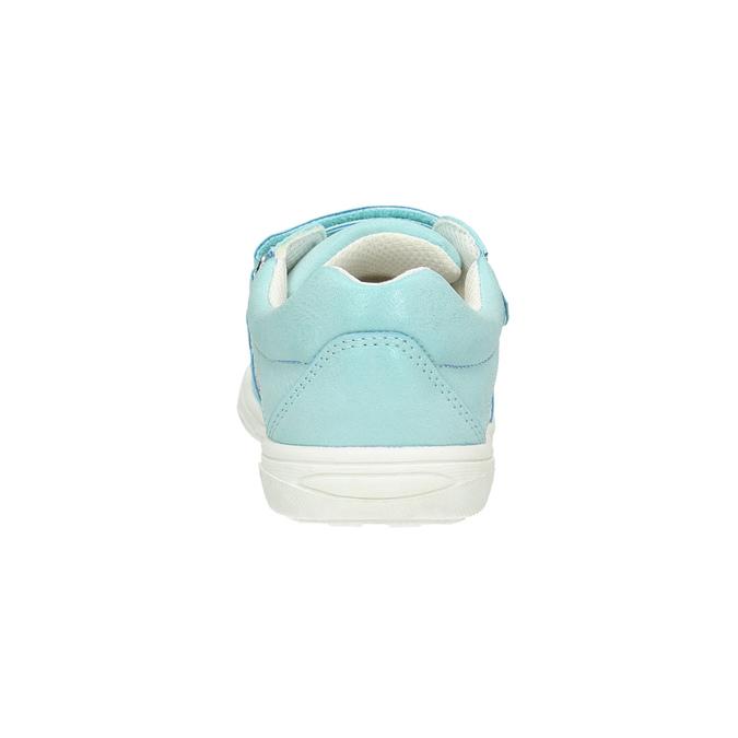 Kinder-Sneakers mit Blumenmotiv mini-b, türkis, 221-7605 - 17