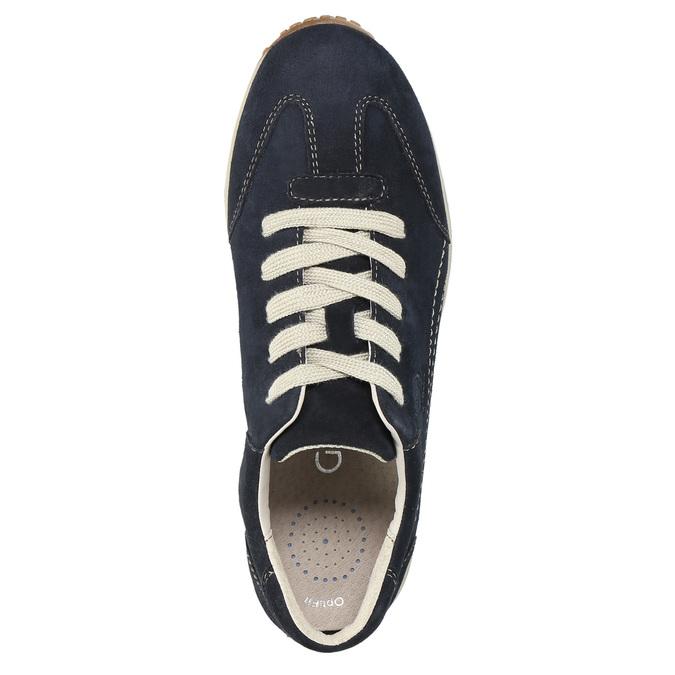 Damen-Sneakers aus Leder gabor, Blau, 626-9205 - 19