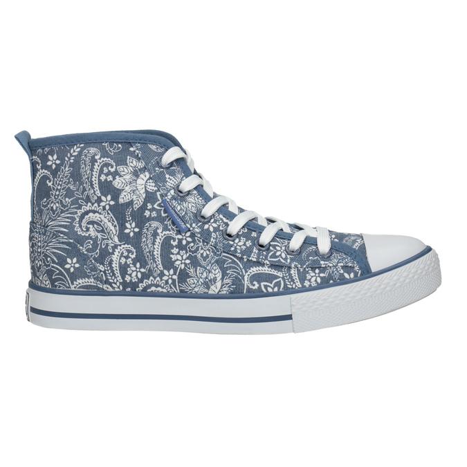 Knöchelhohe Damen-Sneakers mit Muster north-star, Blau, 589-9442 - 15