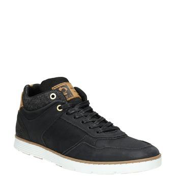 Knöchelhohe Herren-Sneakers aus Leder bata, Schwarz, 846-6641 - 13