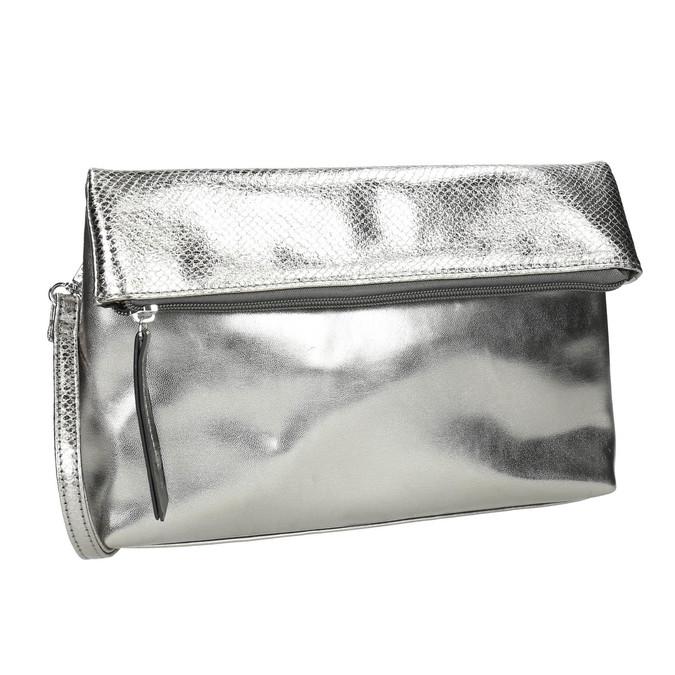 Silberne Crossbody-Handtasche bata, Silber , 961-1501 - 13