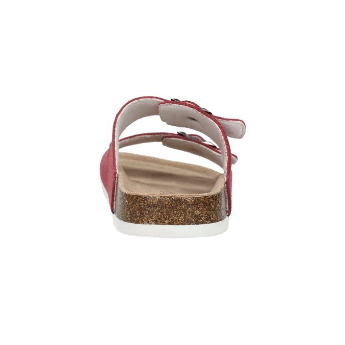 Damenpantoffeln aus Leder de-fonseca, Rot, 573-4621 - 17