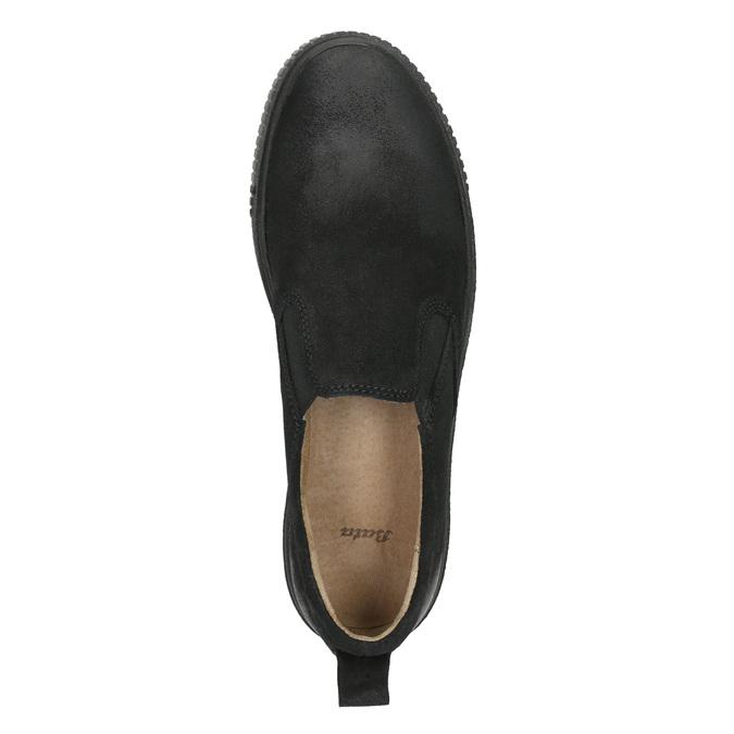 Damen-Slip-Ons aus Leder bata, Schwarz, 516-6613 - 26