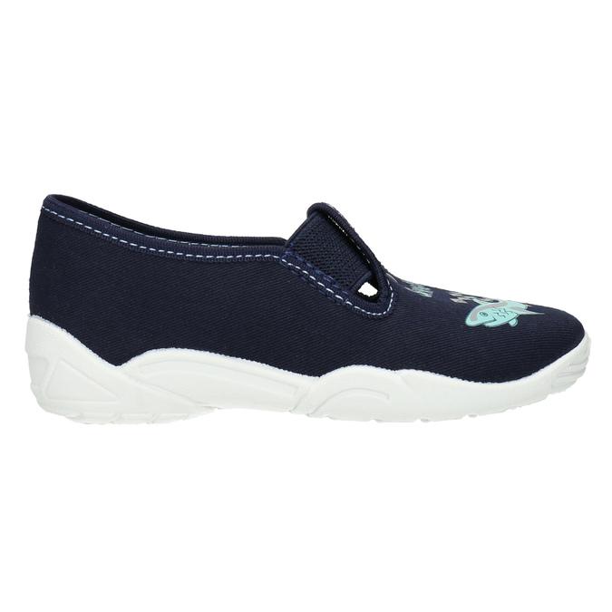 Kinderpantoffeln mit Hai-Motiv mini-b, Blau, 379-9213 - 15