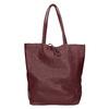 Weinrote Shopper-Handtasche aus Leder bata, Rot, 964-5522 - 26