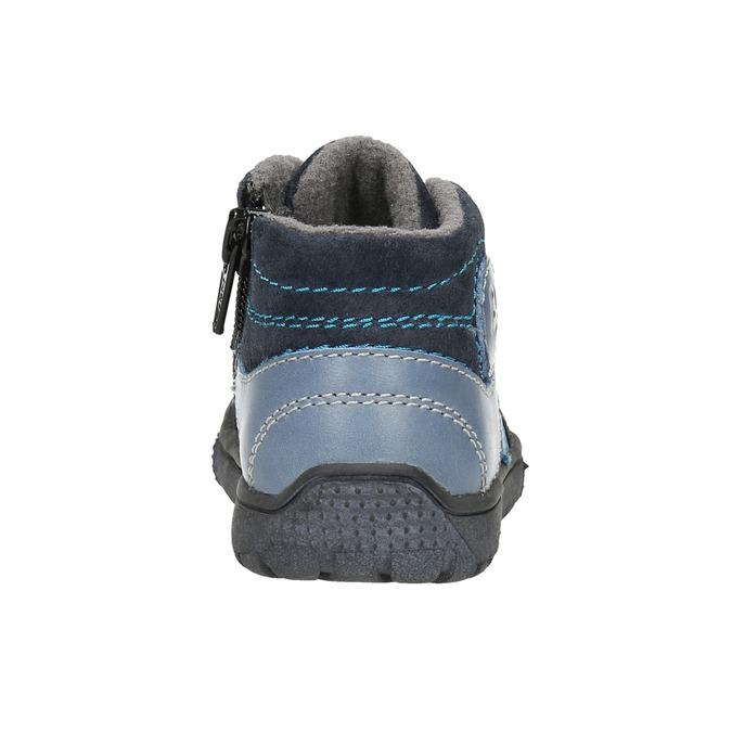 Knaben-Sneakers aus Leder bubblegummer, Blau, 113-9601 - 17
