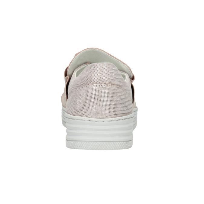 Damen-Slip-Ons aus Leder bata, Rosa, 516-5614 - 17
