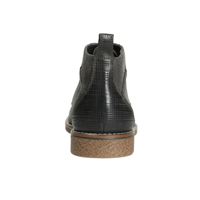 Herren-Knöchelschuhe aus Leder bata, Grau, 823-2615 - 17