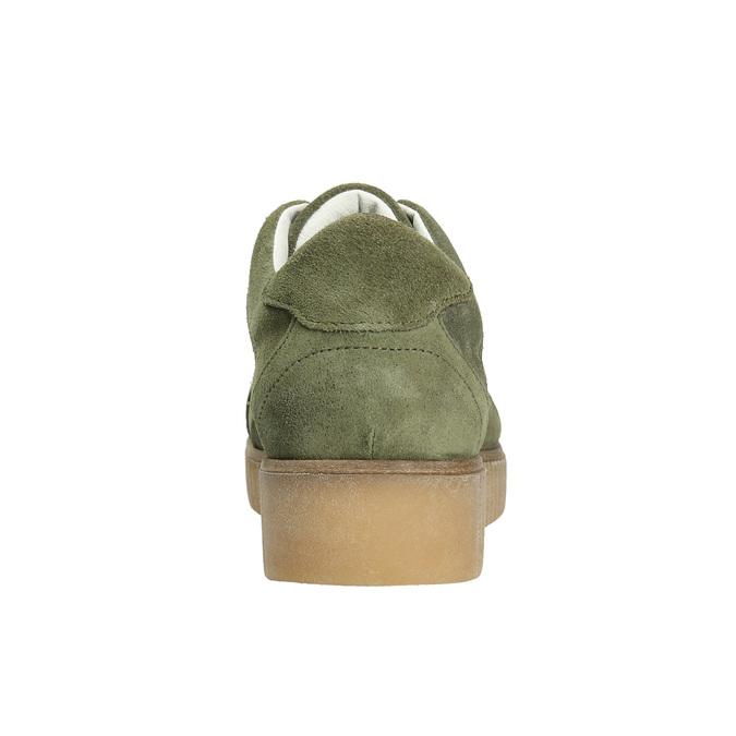 Khaki Damen-Sneakers aus Leder bata, Grűn, 523-7604 - 17