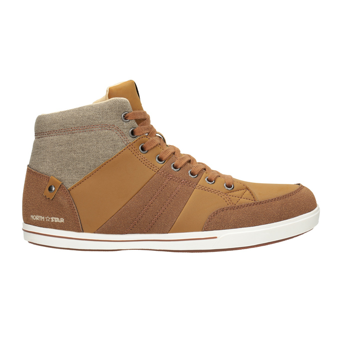 Knöchelhohe Herren-Sneakers north-star, Braun, 841-3608 - 26