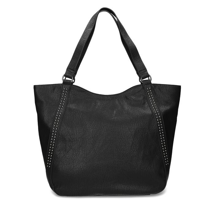 Schwarze Handtasche mit Zwecken, Schwarz, 961-6787 - 26